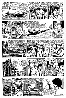 Episodes of the 1987 Striker story 'Dirty Money'. The strip today is published in CGI. Striker © 2010 Pete Nash.