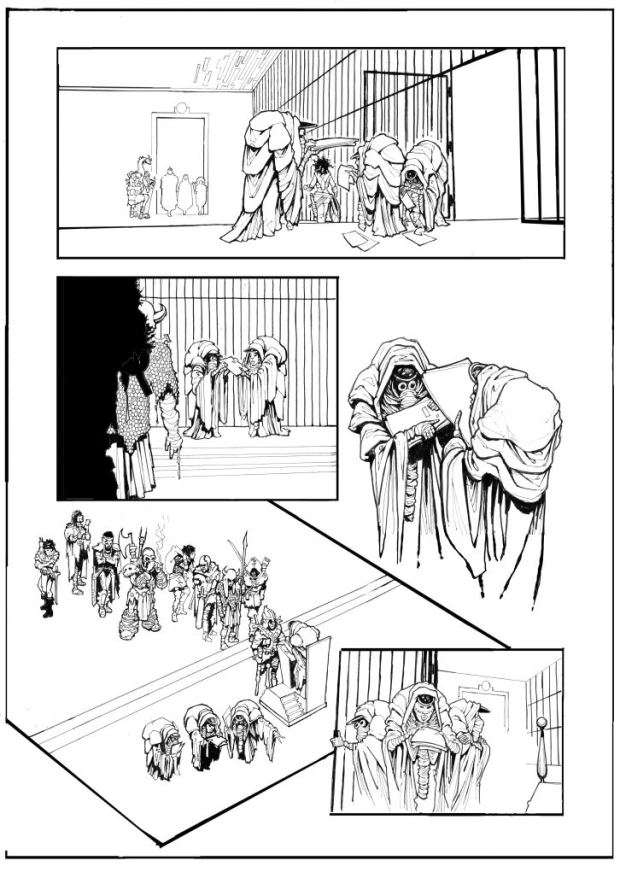 Page 3 of Crucible Part 1. © John Freeman and Smuzz