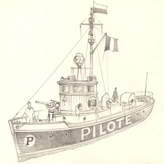 Ship art by Commando artist Jeff Bevan