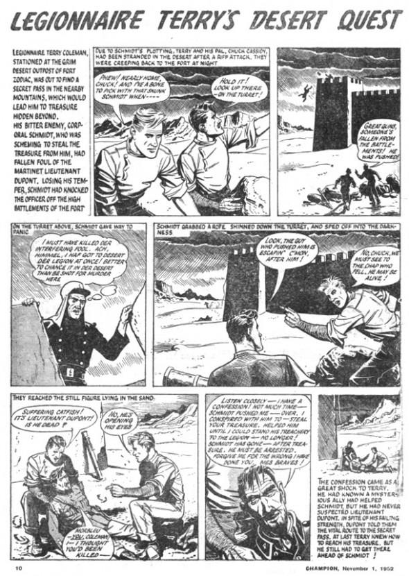 Legionnaire Terry - drawn by Joe Colquhoun