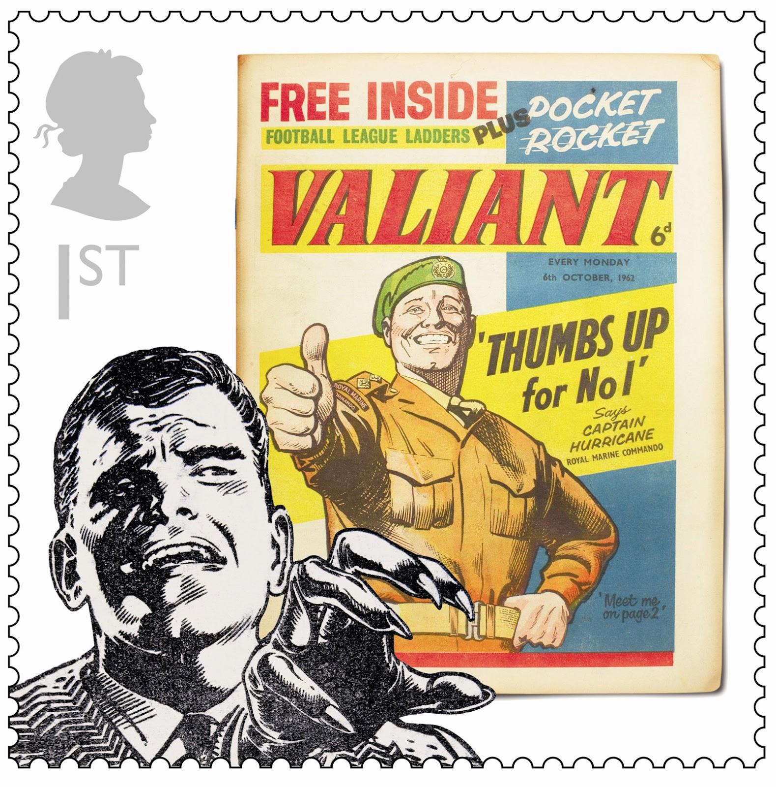 Royal Mail Comic Stamp - Valiant