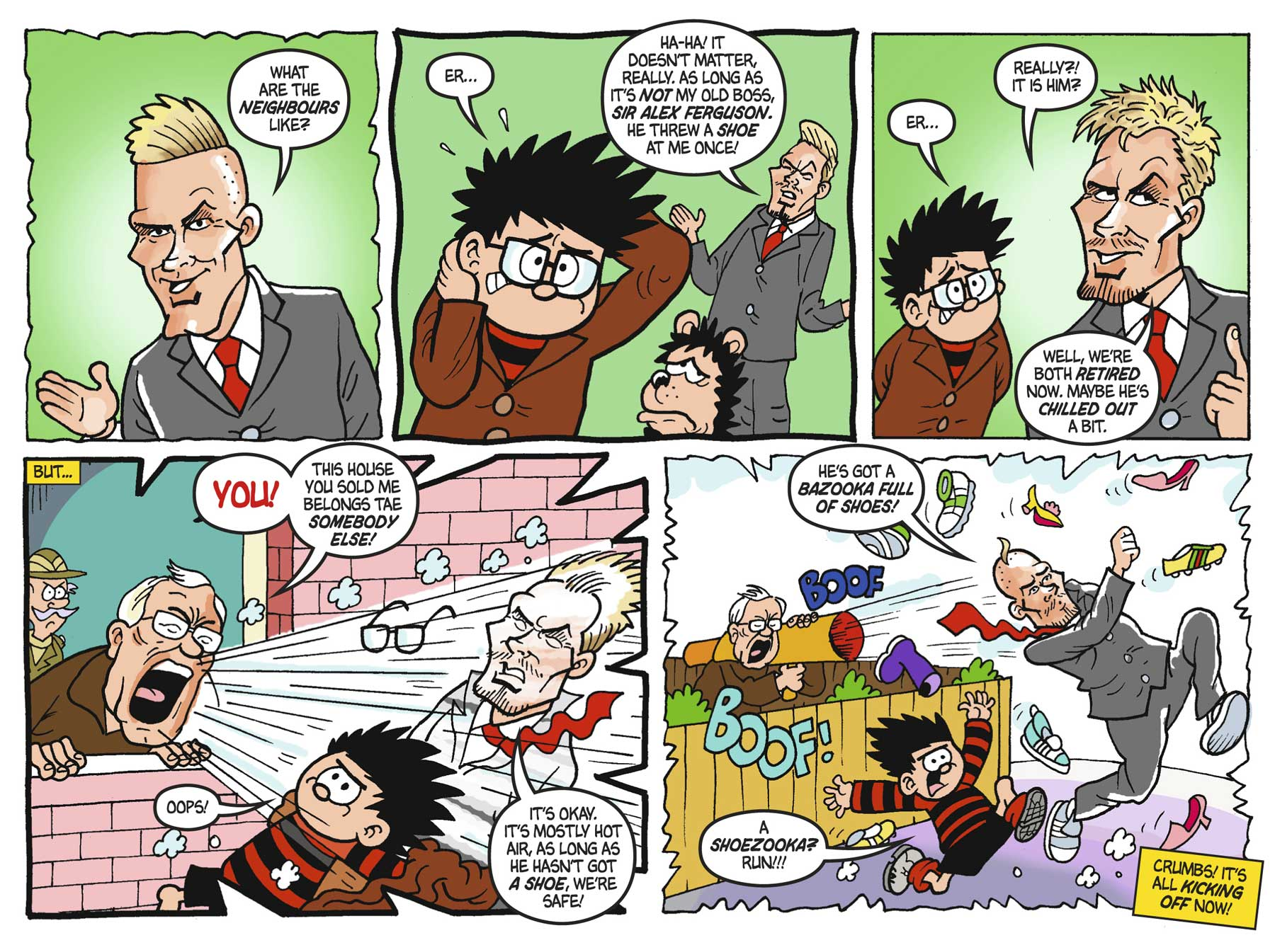 David Beckham in the 75th anniversary issue of The Beano