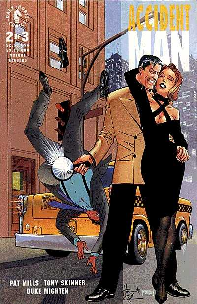 Accident Man #2 from Dark Horse Comics. Cover by Howard Chaykin