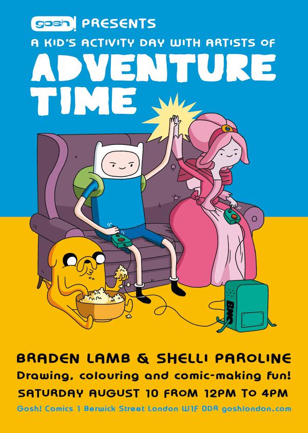 Gosh Adventure Time event poster