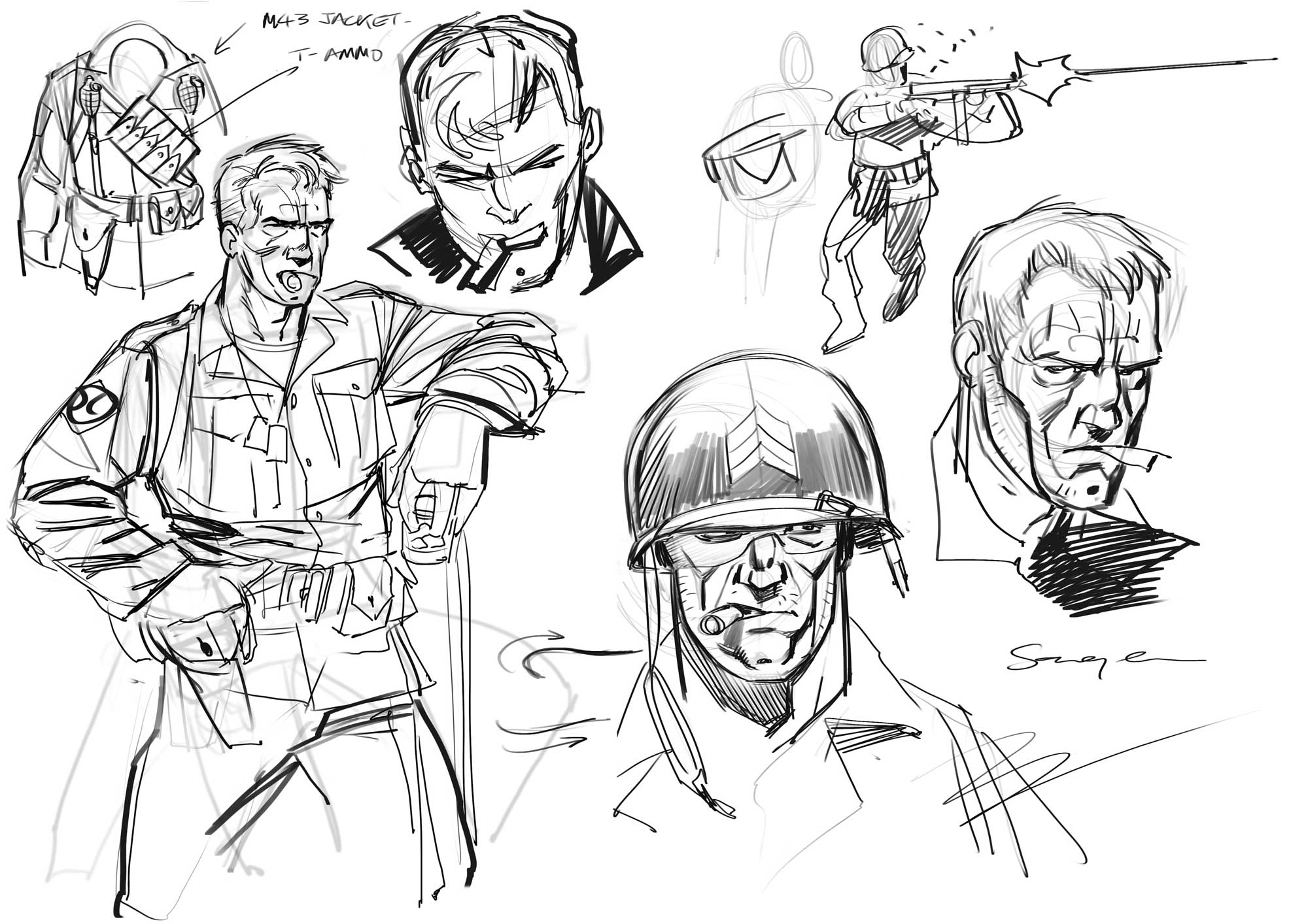 The Sarge from Chronos Commandos - design work