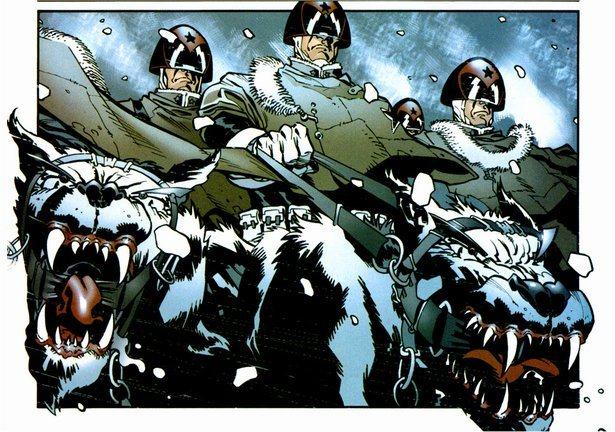 A oanel from 'Gulag', a Judge Dredd story by Gordon Rennie, which began in 2000AD prog 1382. Image © Rebellion