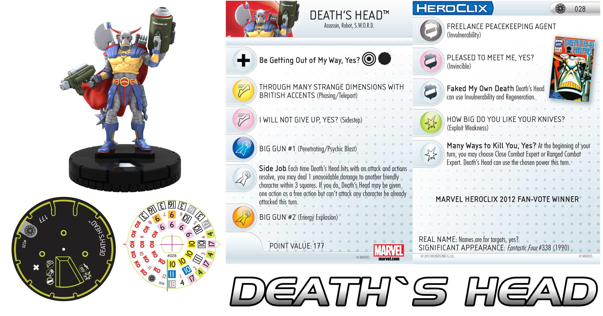 Heroclix Death's Head Profile