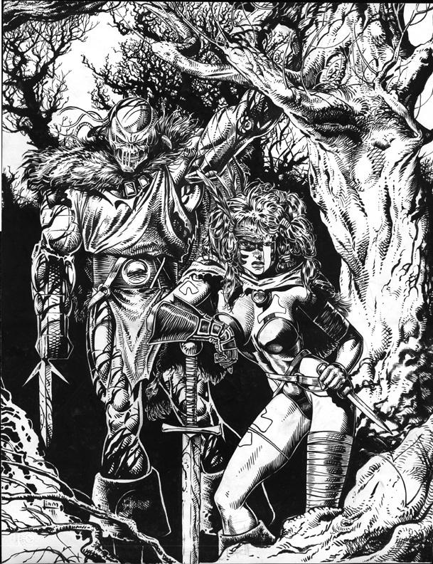 Death's Head II Mini Series #3 Cover Inks
