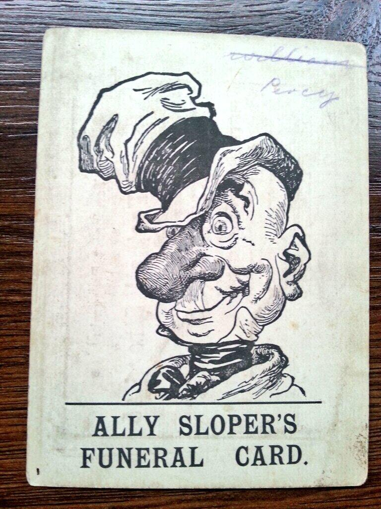 Featherstone Rovers Ally Sloper Funeral Card