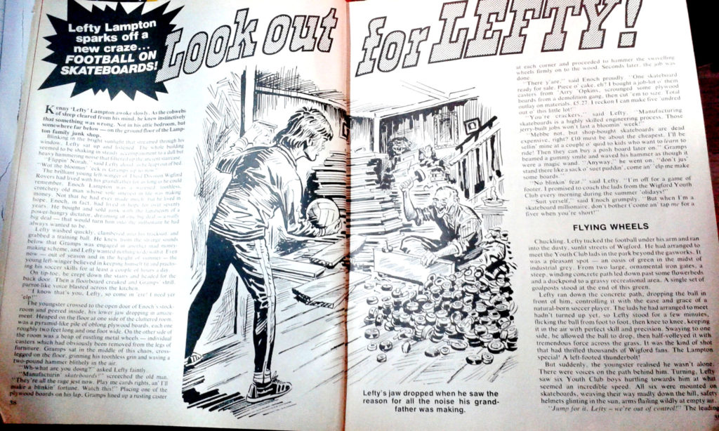 """""""Look out for Lefty"""" spot illustration for the 19778 Action Summer Special"""