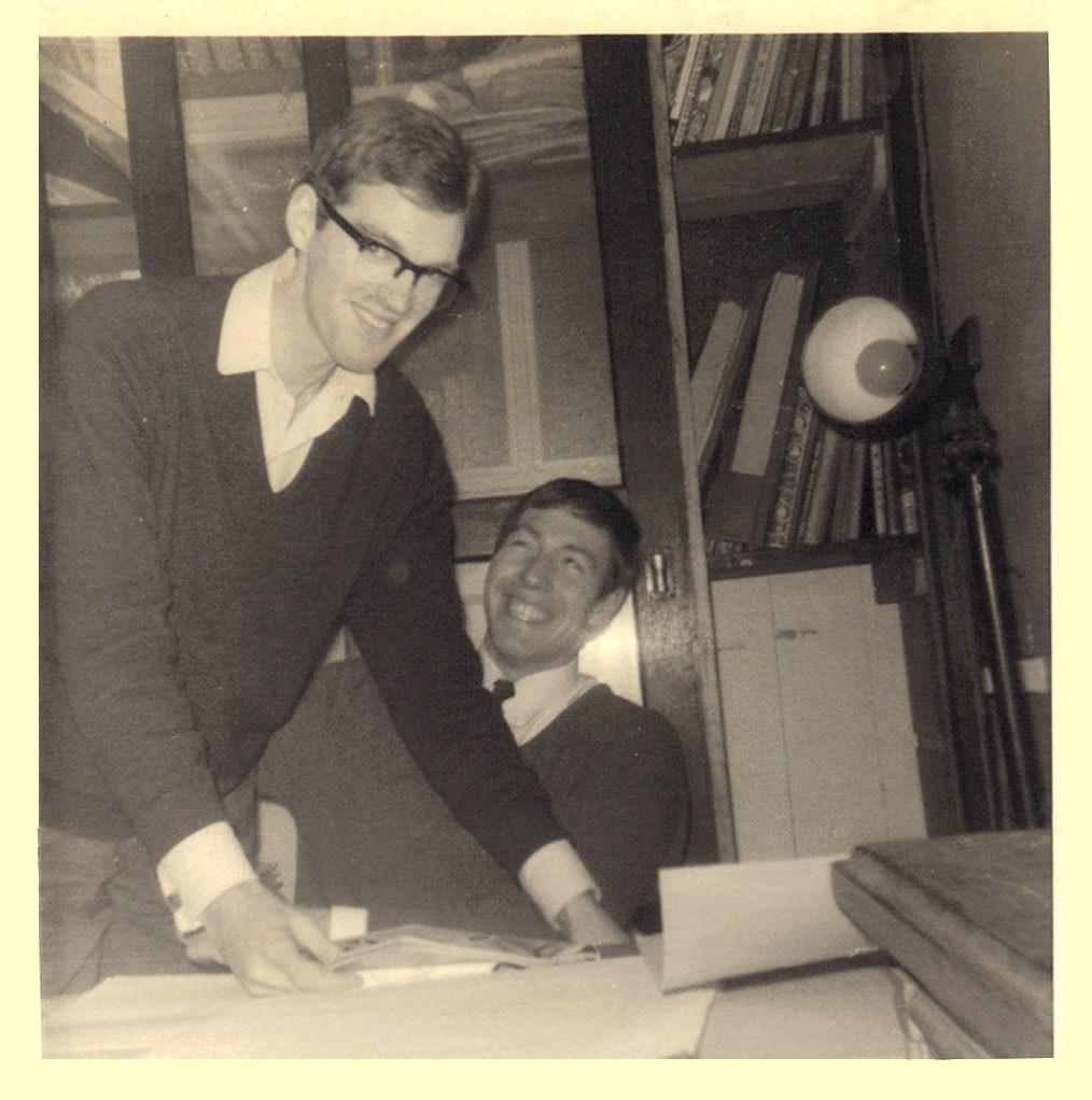 Artists Barrie Mitchell and Tony Harding at Link Studios. Photo courtesy Antony Harding