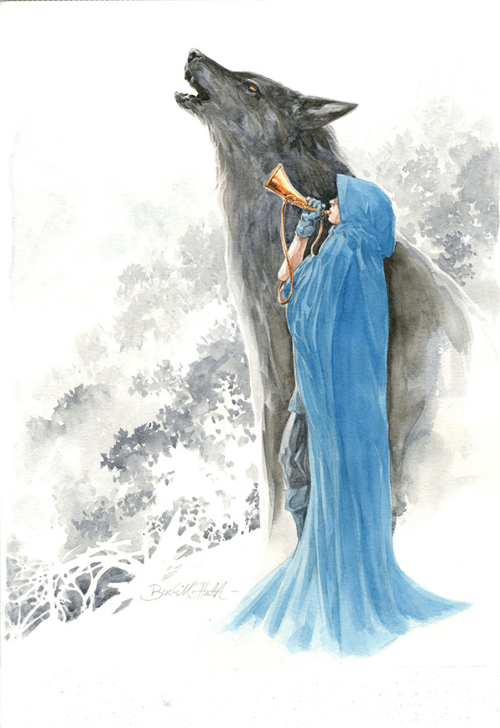 Art for the cover of Fables #134 by Mark Buckingham.