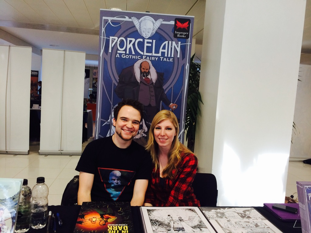Chris Wildgoose and Laura Trinder at Nottingham Comic Con 2014. Photo: Antony Esmond