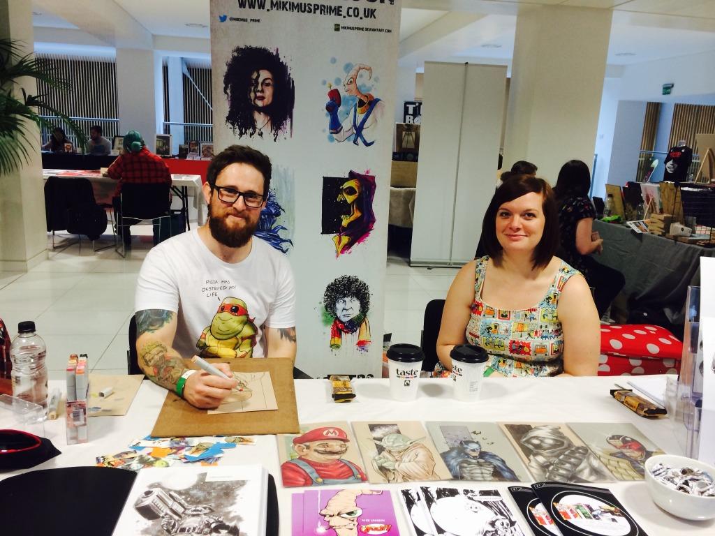 Mike Jackson at Nottingham Comic Con 2014. Photo: Antony Esmond