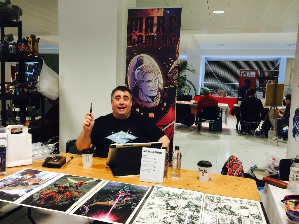 Marc Laming at Nottingham Comic Con 2014. Photo: Antony Esmond