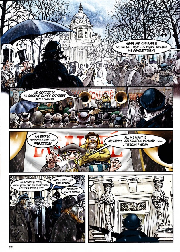 Grandville Noel isn't just great, thoight-provoking adventure - it's packed with wonderful homage to both other comic and literary characters...