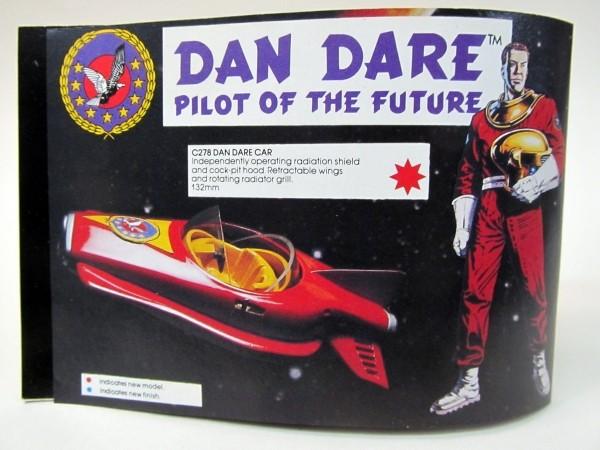 The Dan Dare car as it appeared in the 1981 Corgi Catalogue. Image: Gasoline Alley Antiques