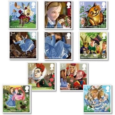 Alice in Wonderland Stamps - 2015