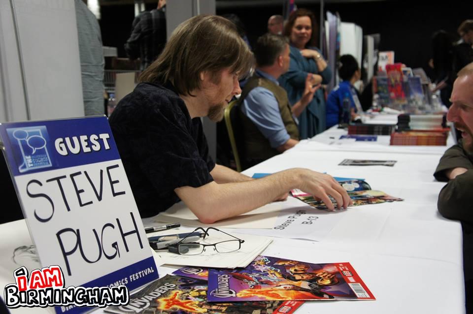 Steve Pugh, making a rare convention appearance.