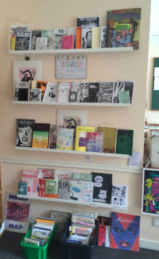 The Zine and Heard shelves at First Age Comics, Lancaster