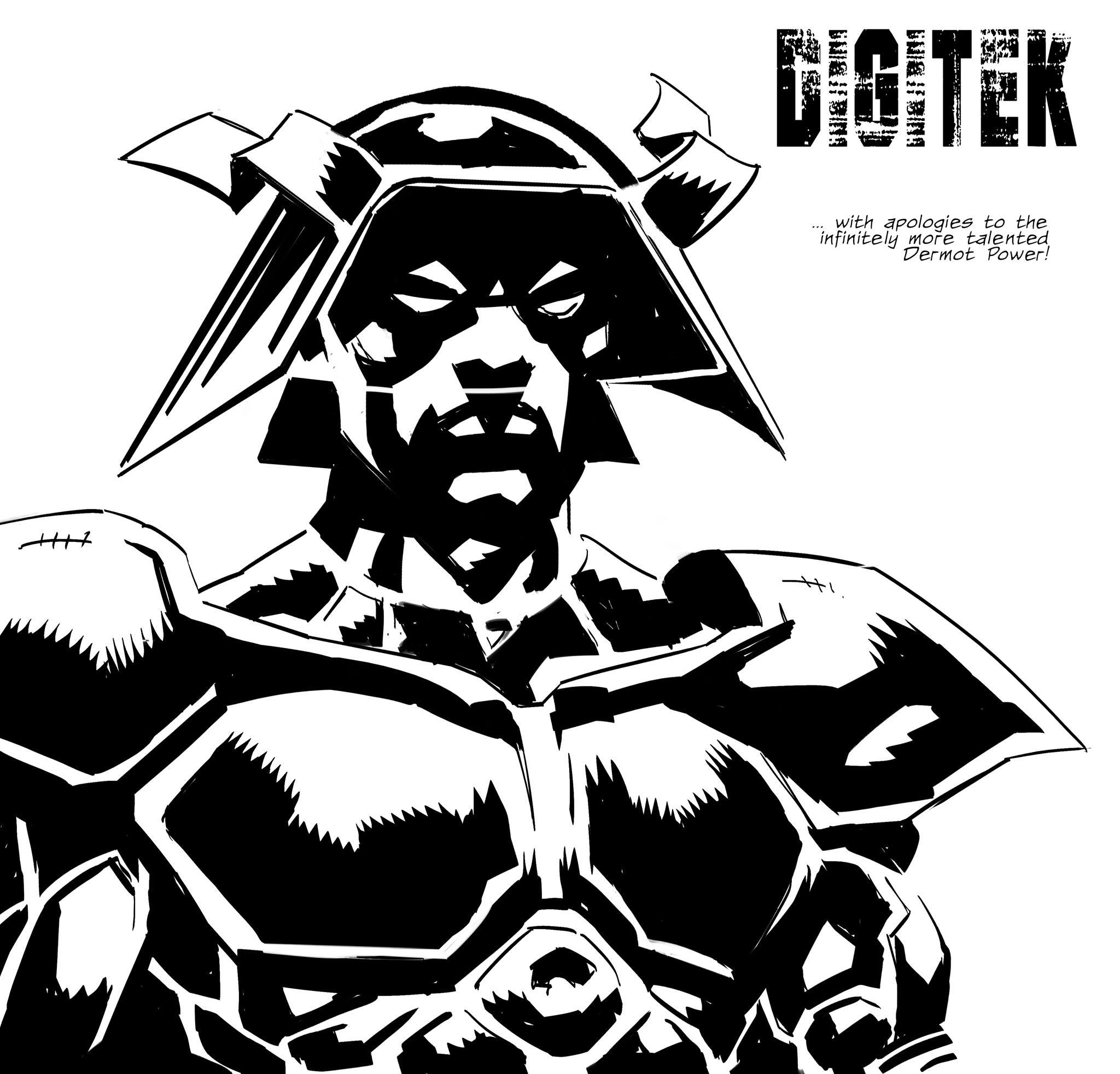 Marvel UK character Digitek, re-imagined by Marc Olivent