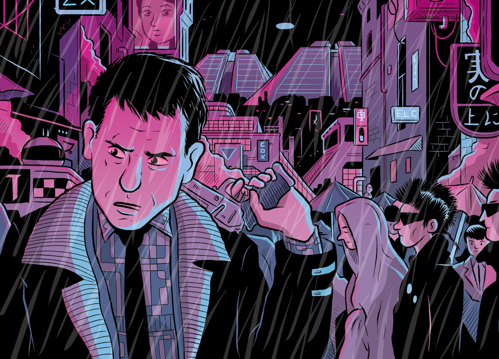 Blade Runner, as featured in Filmish - A Graphic Journey Through Film.