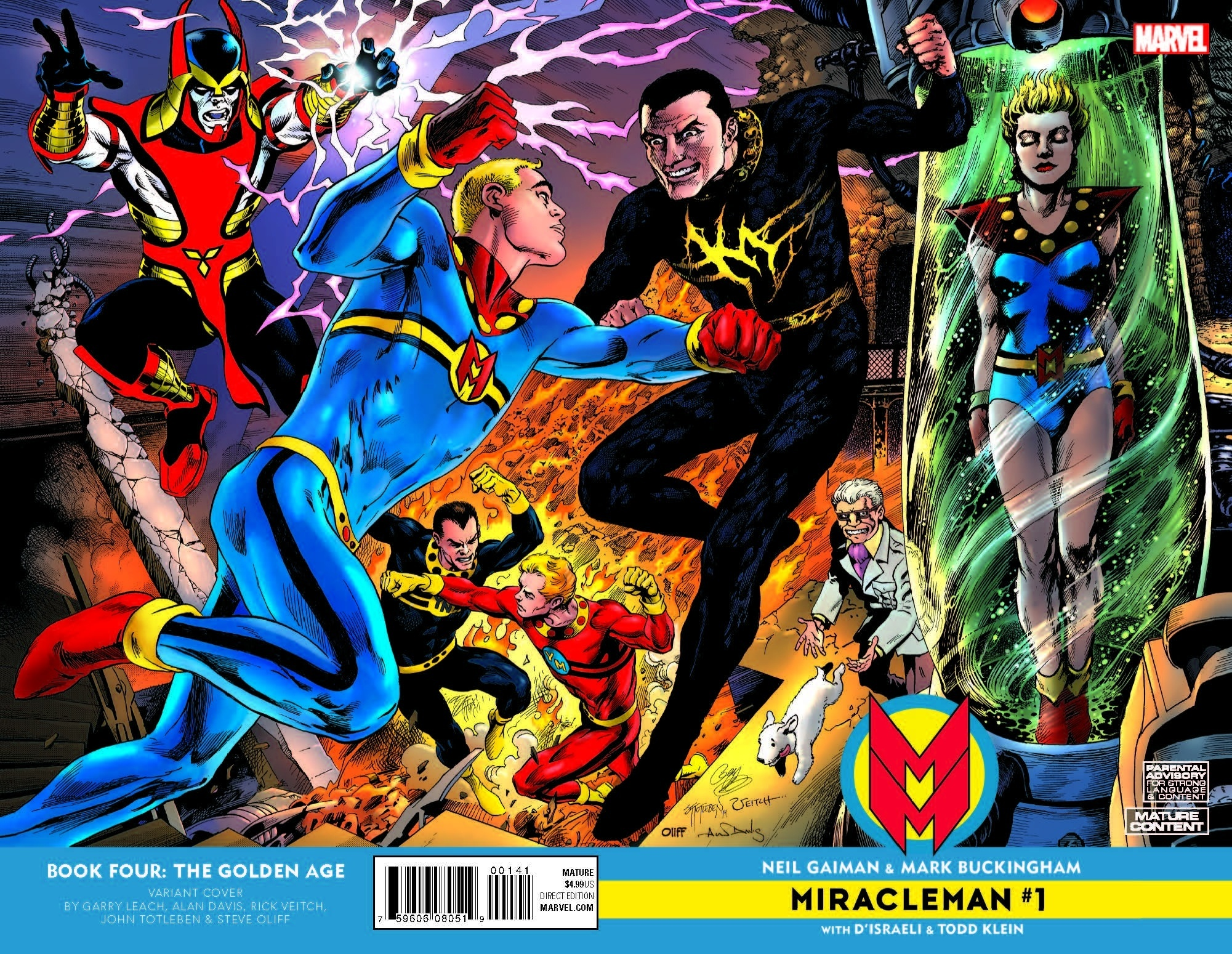 Miracleman #1 Volume 2 variant cover by Garry Leach, Alan Davis, John Totleben and Rick Veitch