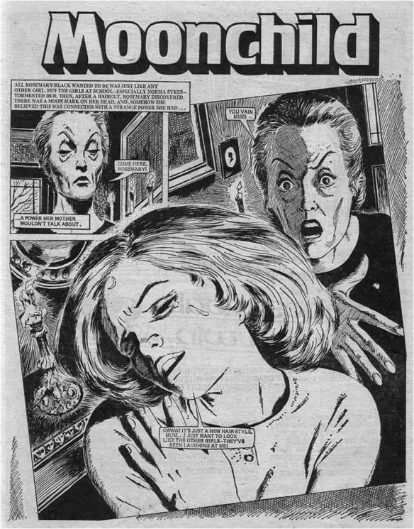 """A page from """"Moonchild"""" by Pat Mills and John Armstrong"""
