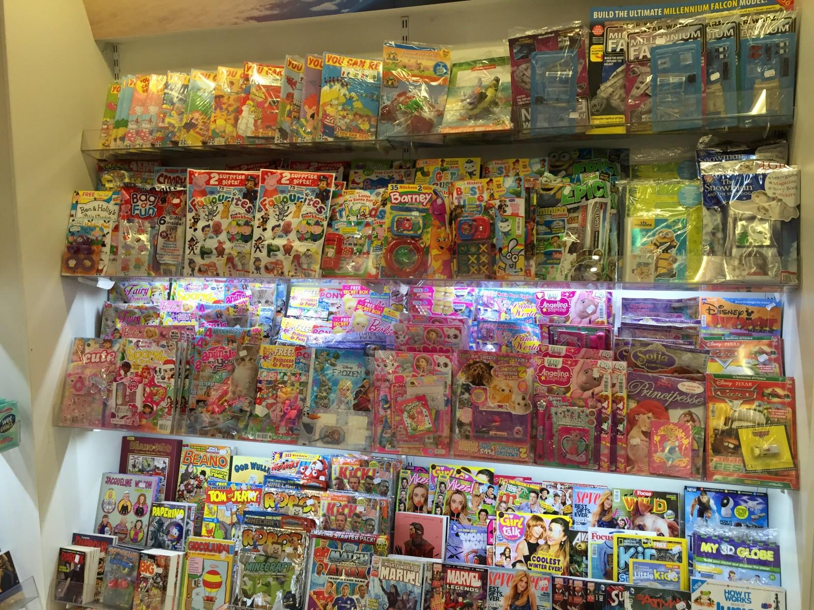Comics On Sale in Malta Airport on 8th December 2015. Photo: John Freeman