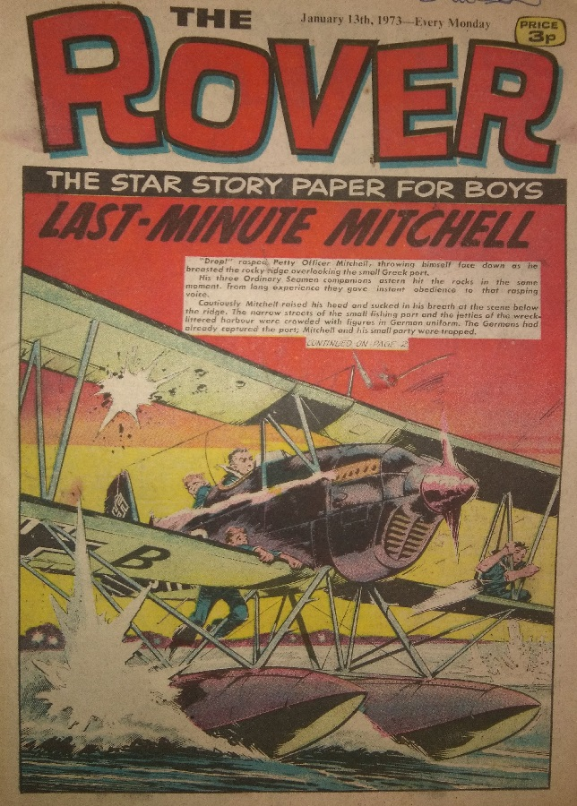 Rover cover dated 13th January 1973