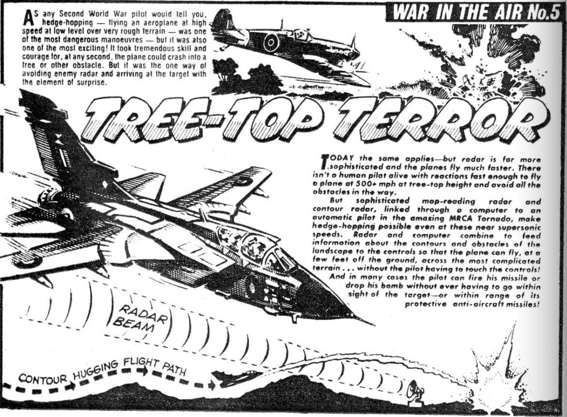 """Spike issue 6: """"War In The Air"""" art by Jeff Bevan"""