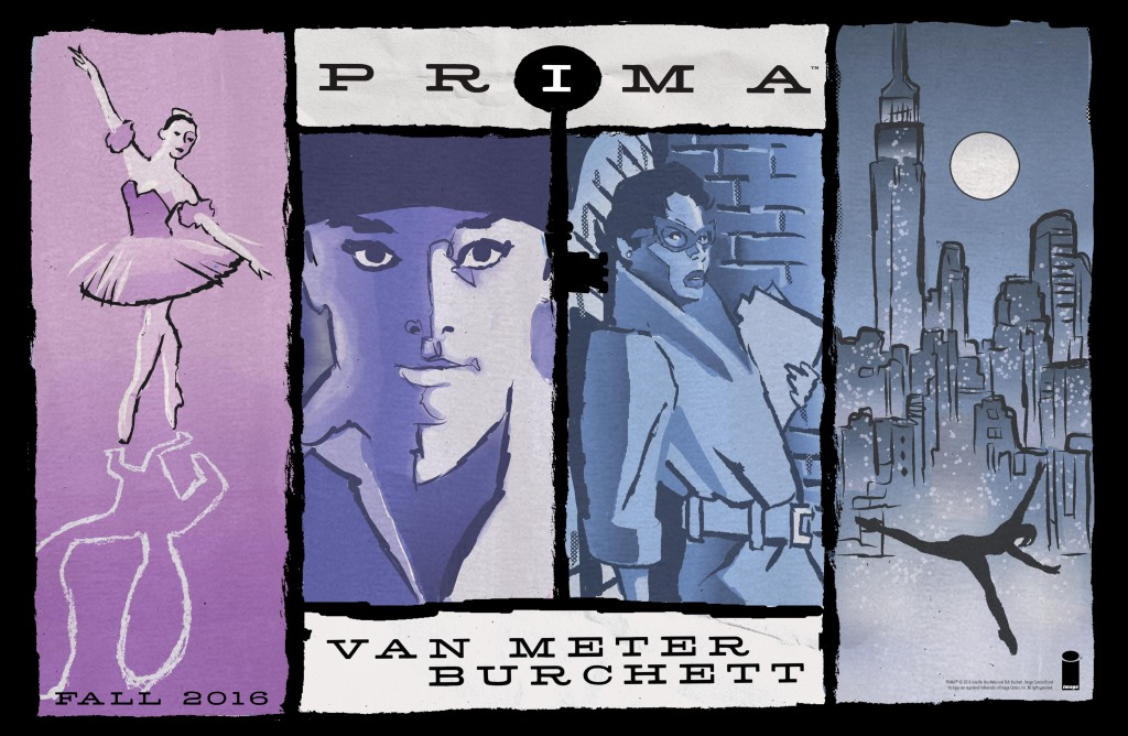 PRIMA by Jen Van Meter, Rick Burchett, Eric Newsom, edited by Jeanine Schaefer