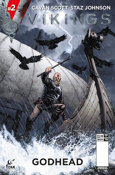 Staz Johnson's main cover for Vikings #2, on sale from 25th May 2016 in all good comic shops