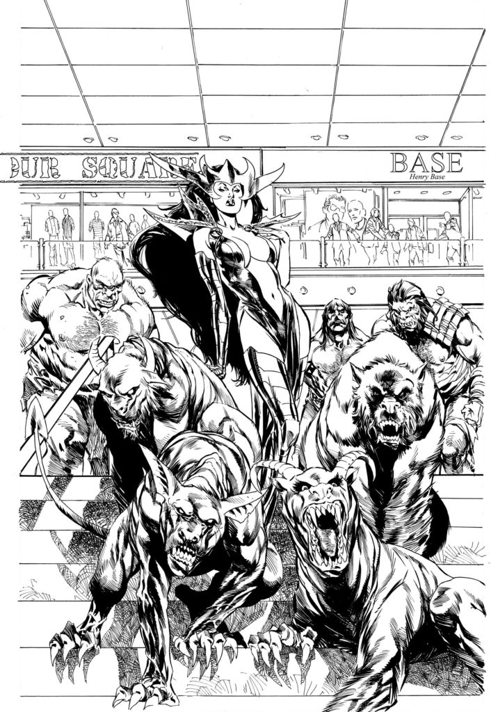 Inks for the cover of King's Road #2 by Staz Johnson