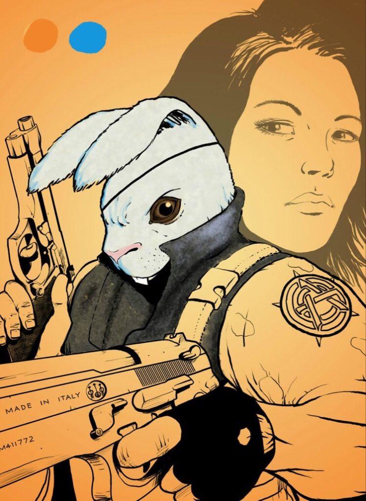 Rabbit comic art