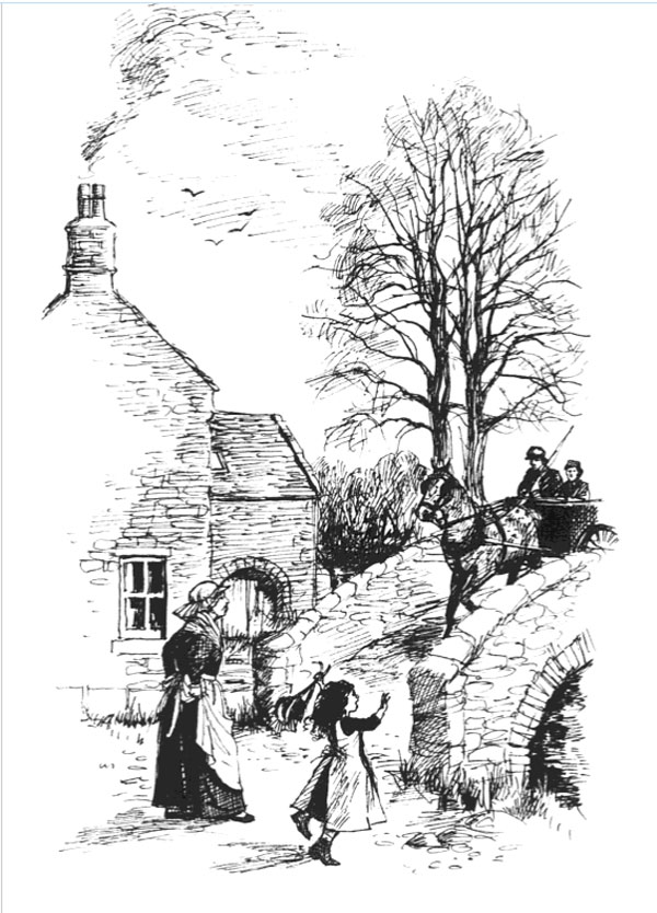 One of Shirley Bellwood's illustrations for a 2012 edition of The Mill on the Floss