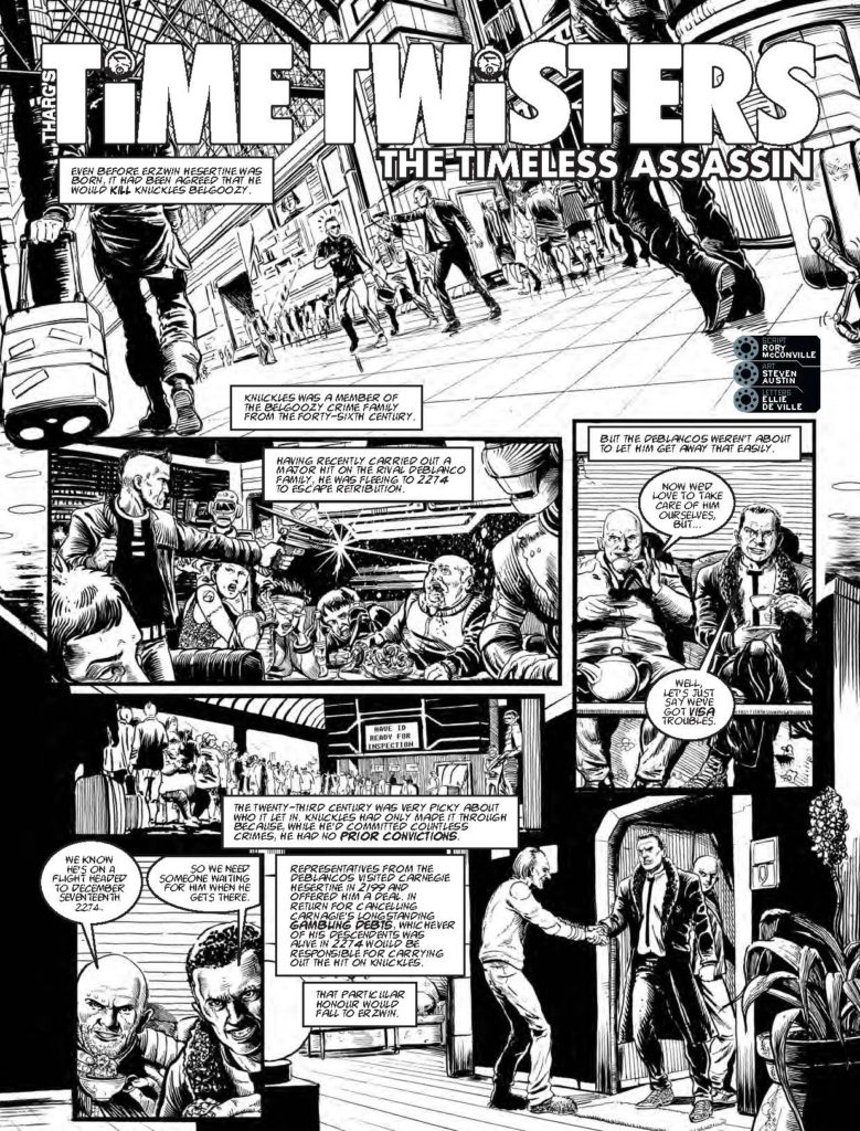 """2000AD Prog 1982: """"The Timeless Assassin"""" Page 1"""