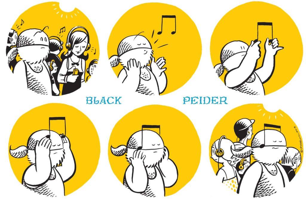 A 'Black Peider' cartoon by top Finnish comics creator and YouTube legend, Petteri Tikkanen
