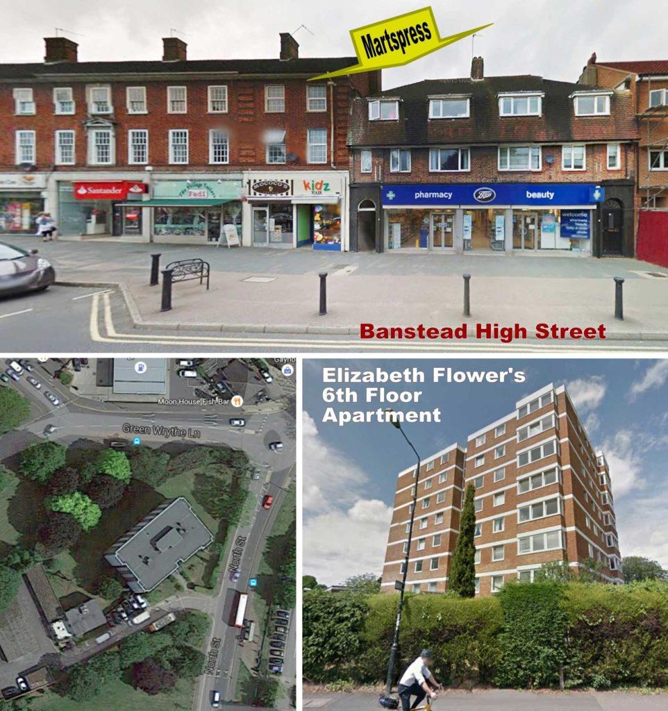 Martspress, Banstead and Elizabeth's Apartment
