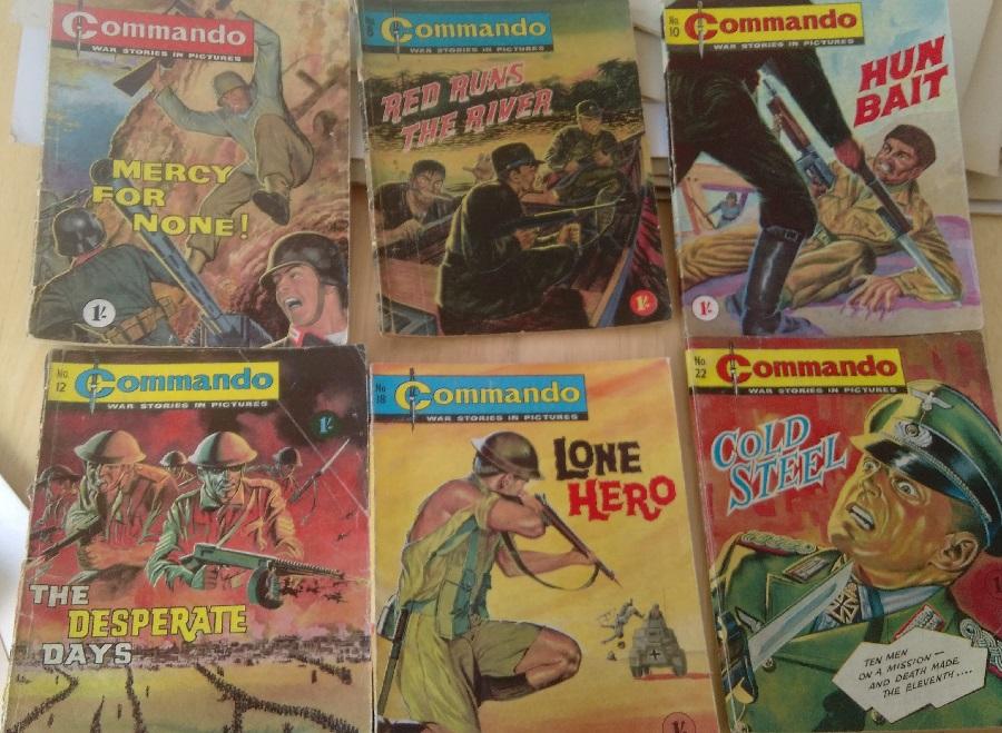 Six of The Best Commando comics by Gordon Livingstone