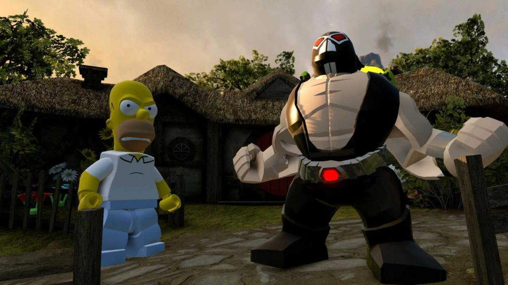 Homer Simpson - ready to take on Batman's Bane in LEGO Dimensions