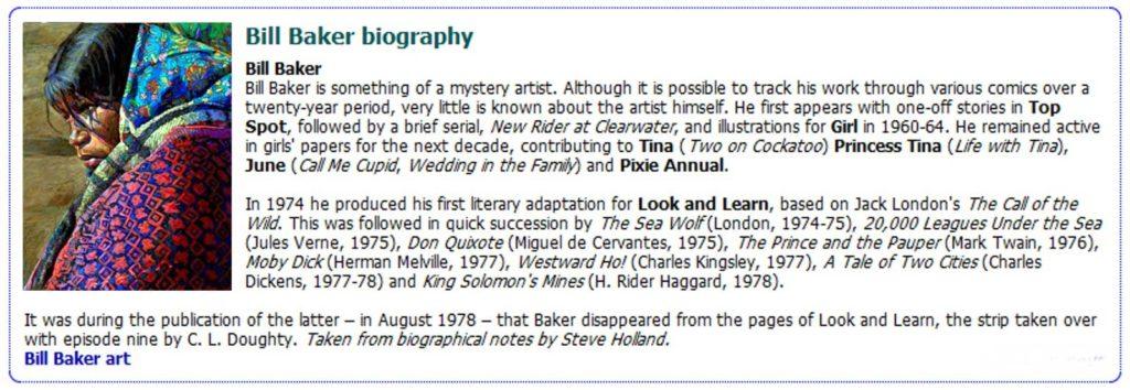 Bill Baker's Biographical Entry