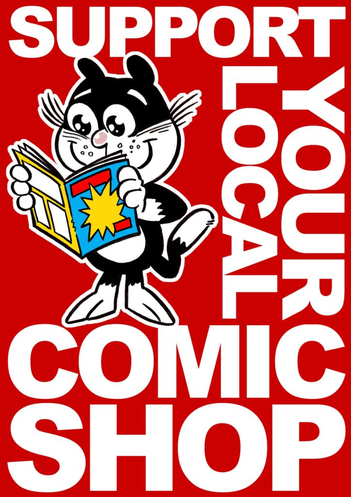 Support Your Local Comic Shop Poster