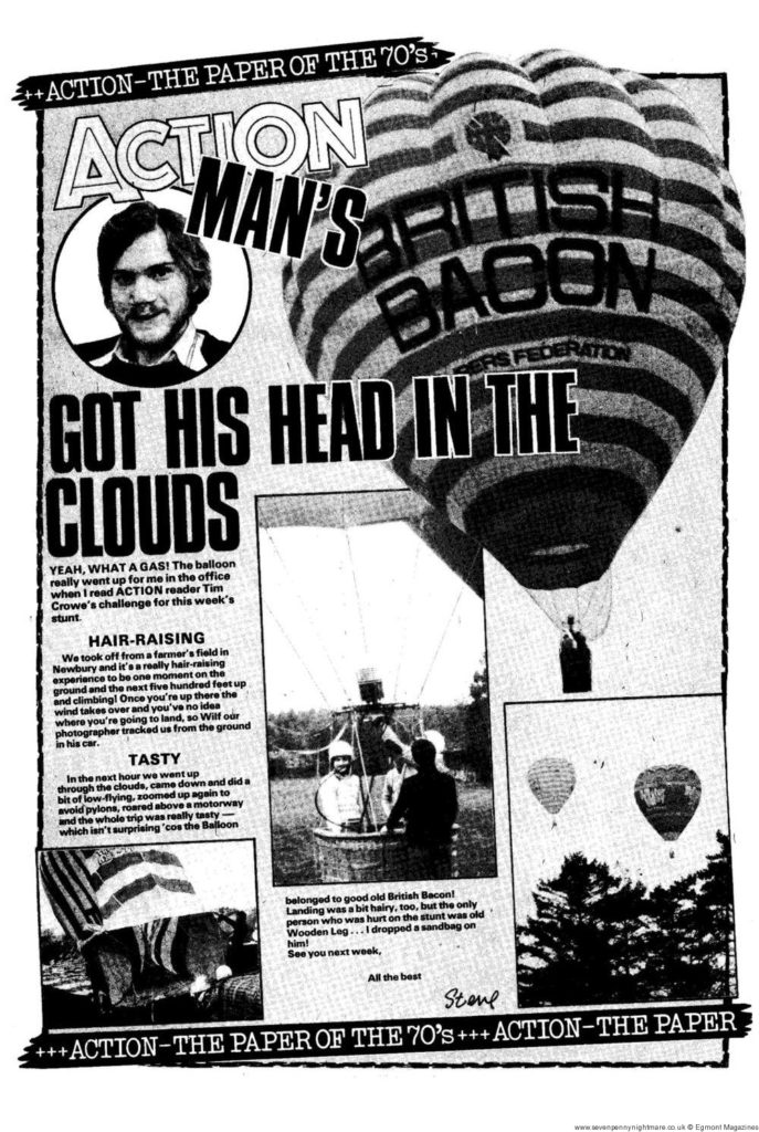 Action Man 10: 1st May – Hot air ballooning at 2,000 feet