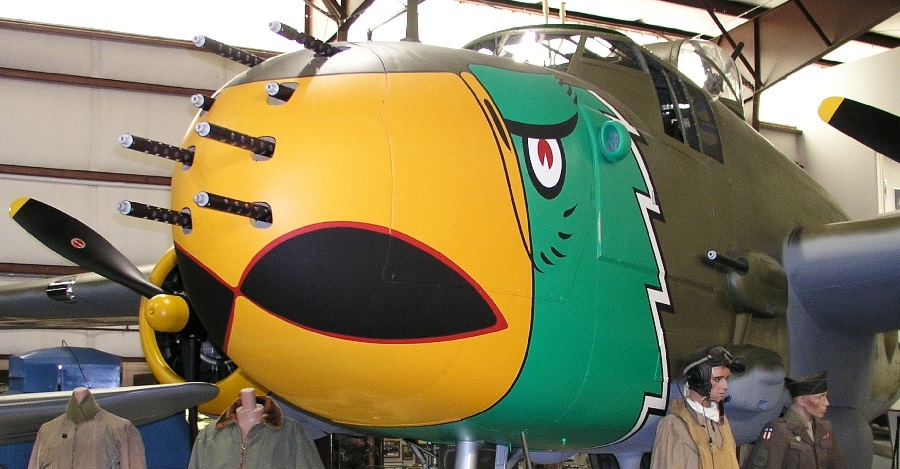 A surviving example of the B25-H Mitchell Ground Attack variant used to devastating effect in the Pacific campaign