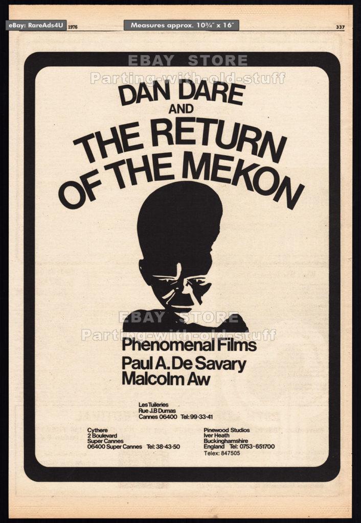Dan Dare: Return of the Mekon - Film ad, Variety 1976