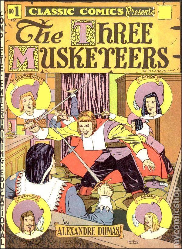 "Classic Comics presentes ""The Three Musketeers"""