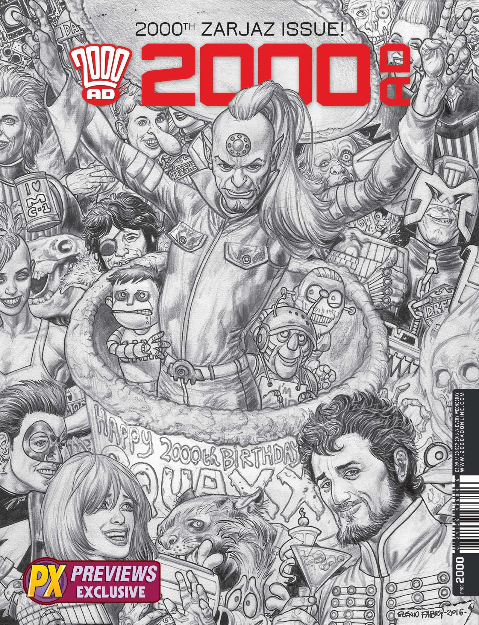 2000AD Reprint Cover - Glenn Fabry