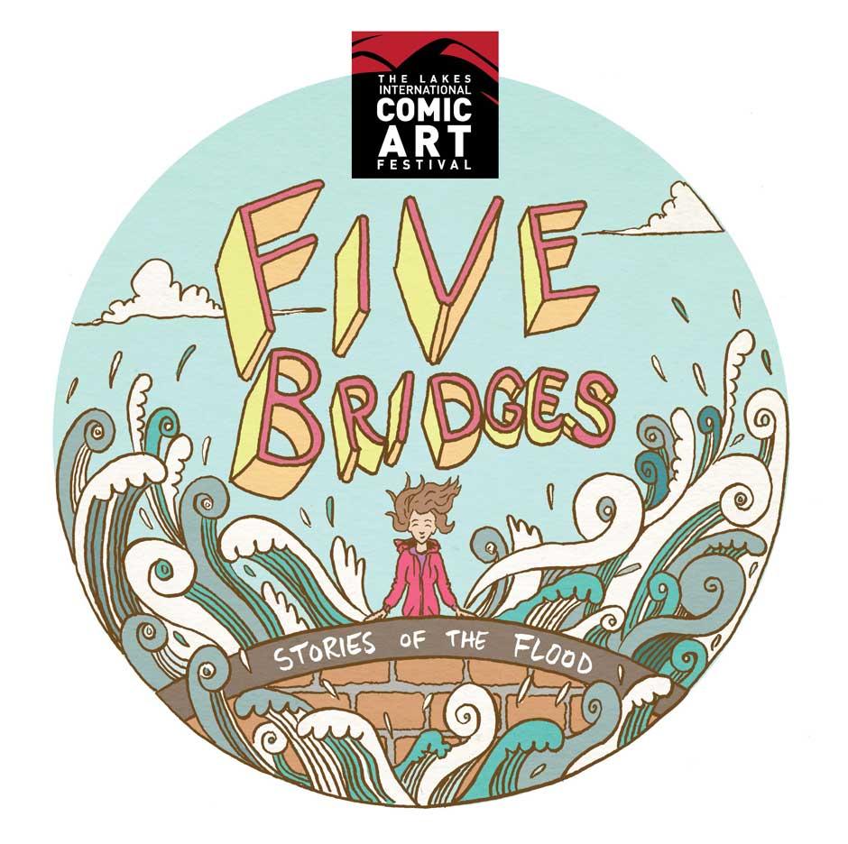 """Five Bridges"" Exhibition Poster by Mike Medaglia"
