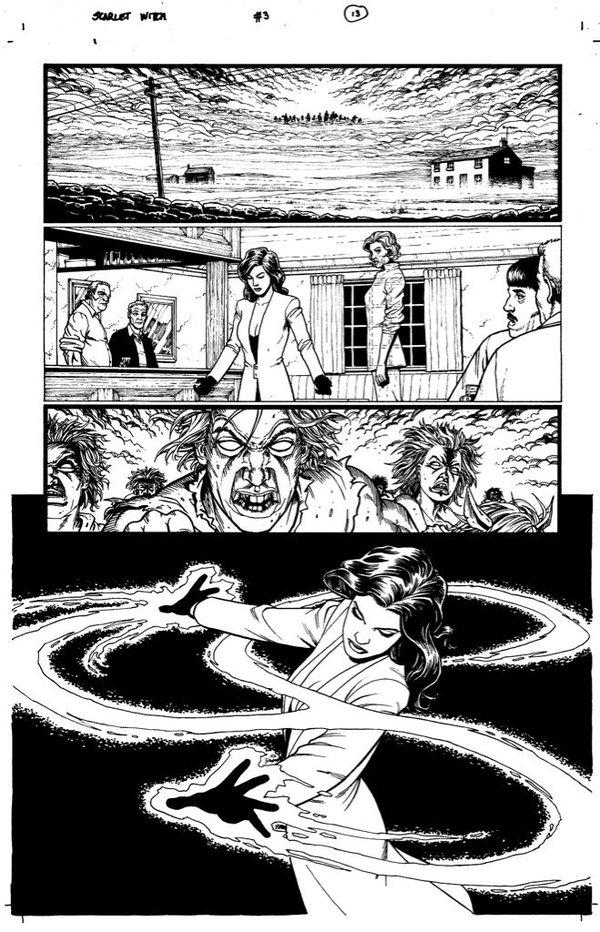 Scarlet Witch by Steve Dillon